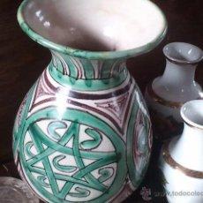 Antigüedades: JARRA DE CERAMICA DE TERUEL DOMINGO PUNTER. MODELO R.5 ALTURA 22 CM DIAMETRO BASE 7,5 CM DIAMETRO B. Lote 41155956