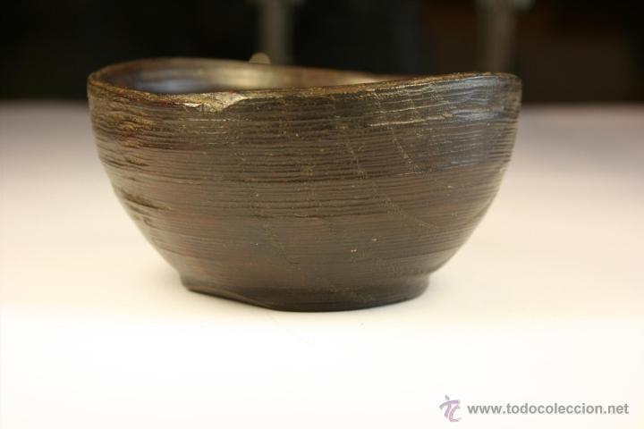 Antigüedades: Cuenco de madera hecho a mano. Recipiente de madera. Bol. Vaso de madera. Vasija. - Foto 2 - 41159727