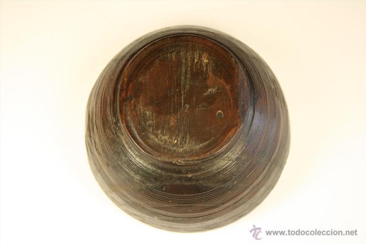 Antigüedades: Cuenco de madera hecho a mano. Recipiente de madera. Bol. Vaso de madera. Vasija. - Foto 3 - 41159727