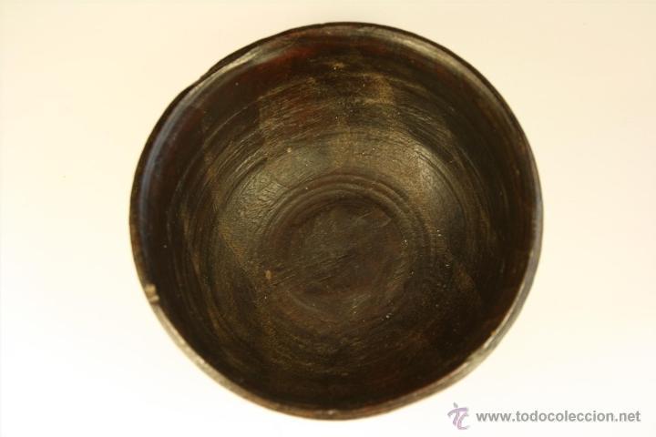 Antigüedades: Cuenco de madera hecho a mano. Recipiente de madera. Bol. Vaso de madera. Vasija. - Foto 4 - 41159727