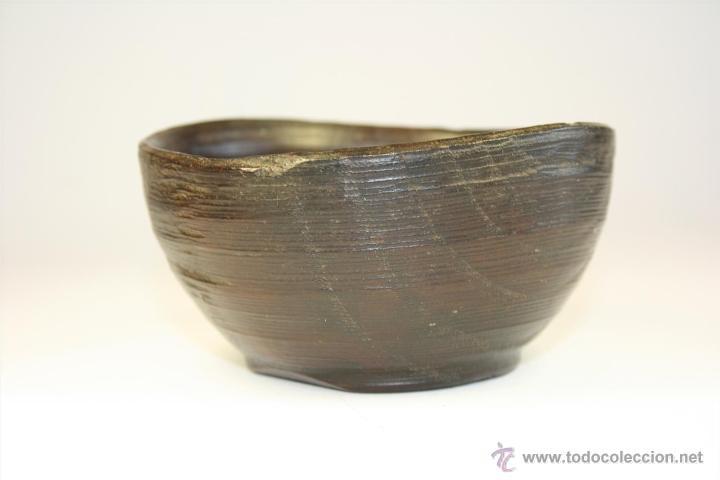 Antigüedades: Cuenco de madera hecho a mano. Recipiente de madera. Bol. Vaso de madera. Vasija. - Foto 5 - 41159727