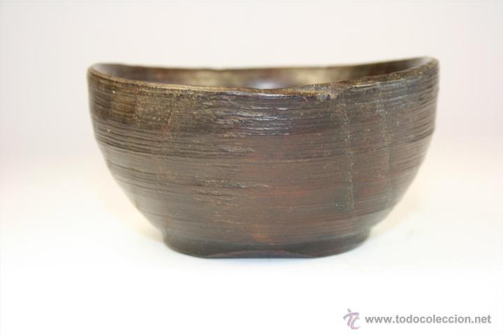 Antigüedades: Cuenco de madera hecho a mano. Recipiente de madera. Bol. Vaso de madera. Vasija. - Foto 6 - 41159727