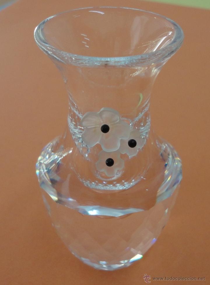 FLORERO. SWAROVSKI (7 CM DE ALTO) ORIGINAL (Antigüedades - Cristal y Vidrio - Swarovski)