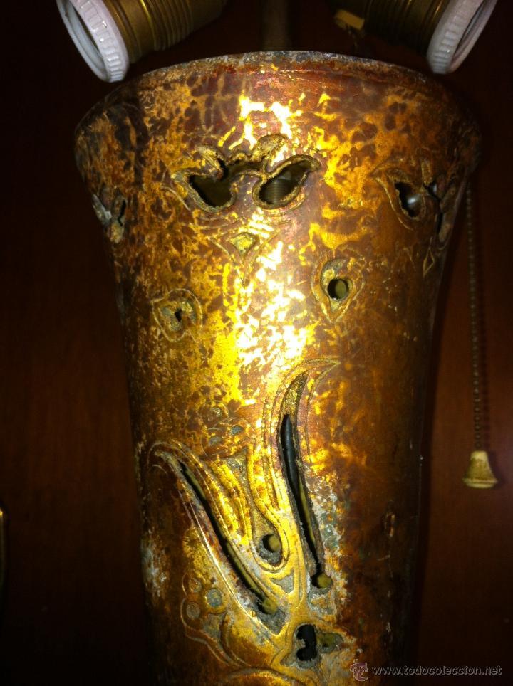 Antigüedades: ANTIGUA LAMPARA DE BRONCE PARA RESTAURAR - Foto 4 - 41160291