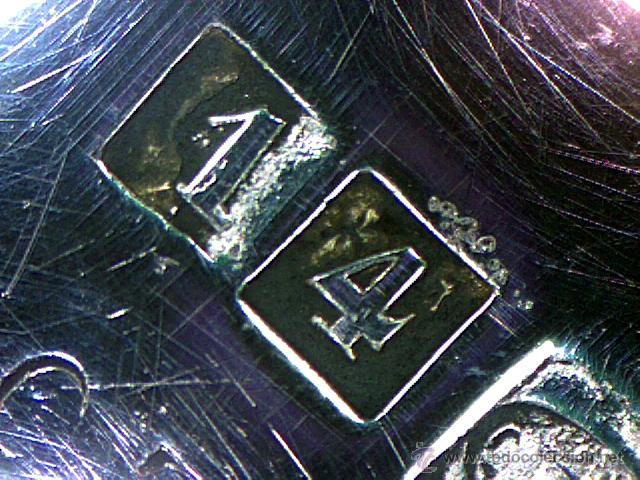 Antigüedades: CHRISTOFLE - PARIS - BELLO CENTRO EN FORMA DE CESTA - SELLADO Y NUMERADO - S. XIX - Foto 17 - 41165728