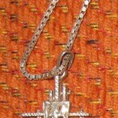 Antigüedades: CRUZ DE PLATA MUY ORIGINAL, HECHA CON VARIAS CRUCES. SIN CADENA. UNOS 55 AÑOS DE ANTIGÜEDAD.. Lote 41182525