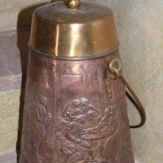 Antigüedades: PRECIOSO RECIPIENTE ANTIGUO EN COBRE. Lote 41201476