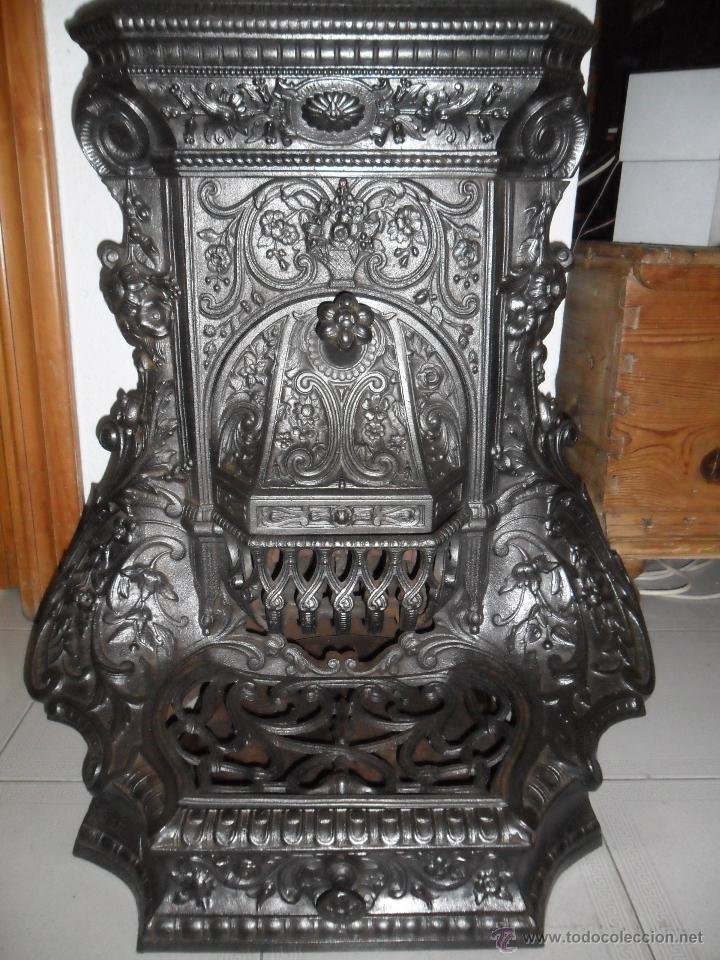 Excepcional antigua estufa de le a origen fran comprar - Cosas del hogar de segunda mano ...