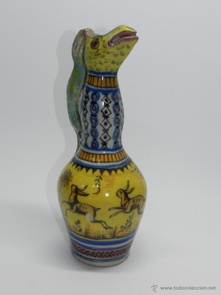Antigüedades: ANTIGUA PAREJA DE JARRAS DE CERAMICA DE TRIANA SIGLO XIX CON ASAS DE SALAMANDRA, en muy buen estado - Foto 10 - 41203577