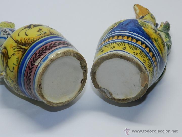 Antigüedades: ANTIGUA PAREJA DE JARRAS DE CERAMICA DE TRIANA SIGLO XIX CON ASAS DE SALAMANDRA, en muy buen estado - Foto 13 - 41203577