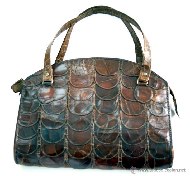 original bolso en piel de cocodrilo - años 50 - Comprar Bolsos ... a6f3be77822