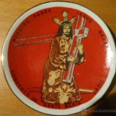 Antigüedades: MAGNIFICO PLATO CRISTO JESUS NAZARENO, CONVENTO DE SANTA MARIA - CADIZ. SELLO ESPAÑA. Lote 41219669