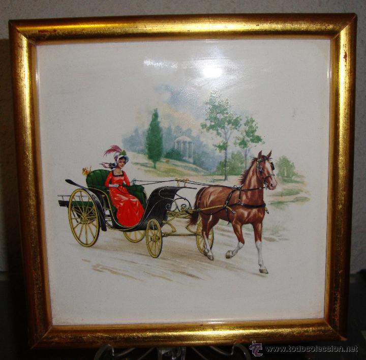 bonita baldosa azulejo con carruaje y caballo e - Comprar Azulejos ...