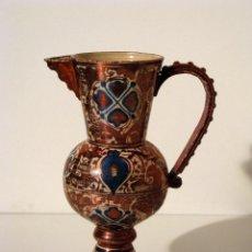 Antigüedades: ANTIGUA JARRA DE PICO DE MANISES EN REFLEJOS METÁLICOS. CIRCA 1900.. Lote 41222952