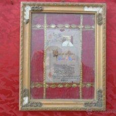 Antigüedades: RELICARIO DEL VATICANO CON MARCO ANTIGUO AÑO 1967. Lote 41247710