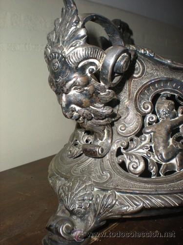 Antigüedades: CENTRO MESA BAÑO DE PLATA - Foto 4 - 41250404