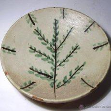 Antiguidades: INTERESANTE PLATO DE CERAMICA . Lote 41262799