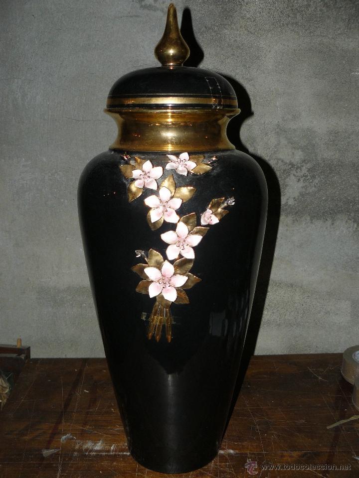 GRAN JARRÓN DE CERÁMICA (Antigüedades - Hogar y Decoración - Jarrones Antiguos)