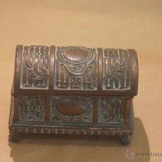 Antigüedades: COFRE ANTIGUO DE METAL TALLADO. Lote 41278205