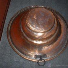 Antigüedades: ANTIGUO BRASERO DE COBRE, PREPARADO PARA COLGAR.. Lote 41279985