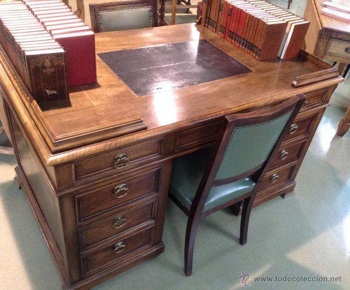 Espectacular escritorio nogal totalmente re comprar for Muebles escritorios clasicos