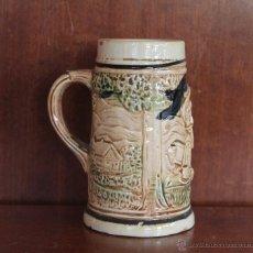 Antiquités: JARRA DE CERVEZA DE CERAMICA O PORCELANA MADE IN JAPON – MARCA EN LA BASE VER FOTOGRAFIA ADICIONAL. Lote 41300019
