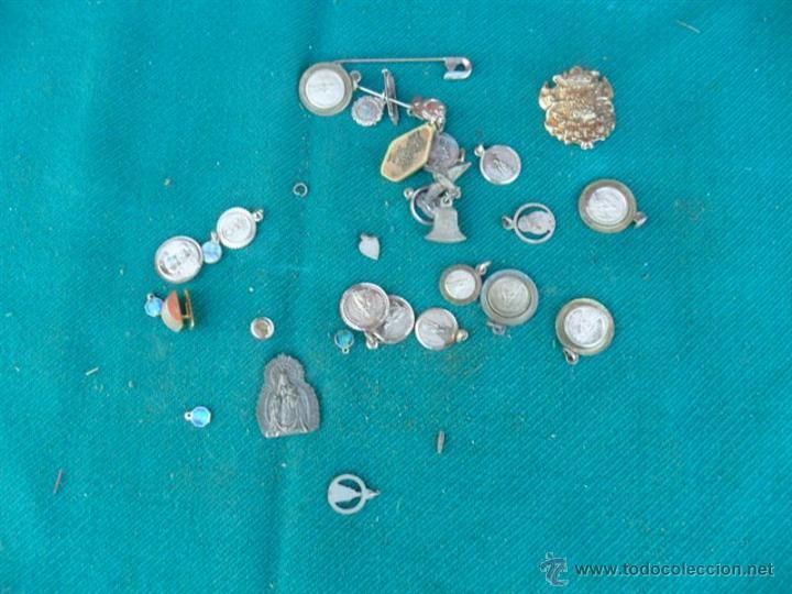Antigüedades: lote de medallas religiosas - Foto 2 - 41300599
