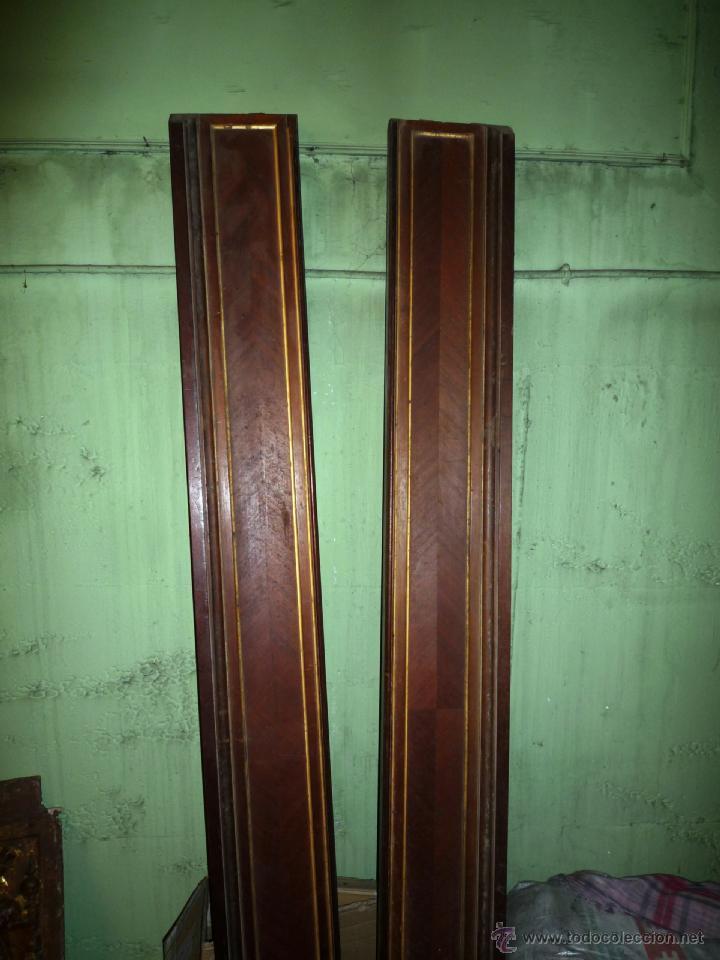 Antigüedades: Cama S. XIX, cabecero, piecero y largueros. - Foto 6 - 41302922