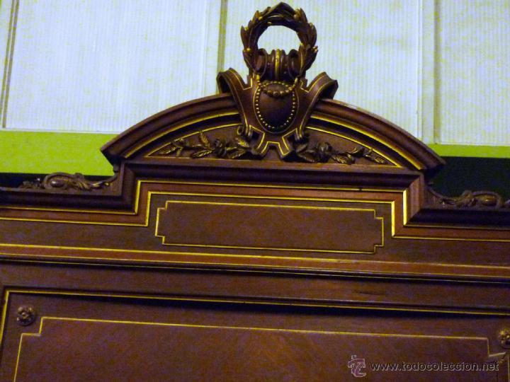 Antigüedades: Cama S. XIX, cabecero, piecero y largueros. - Foto 8 - 41302922