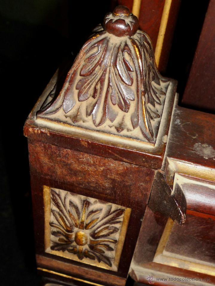 Antigüedades: Cama S. XIX, cabecero, piecero y largueros. - Foto 13 - 41302922