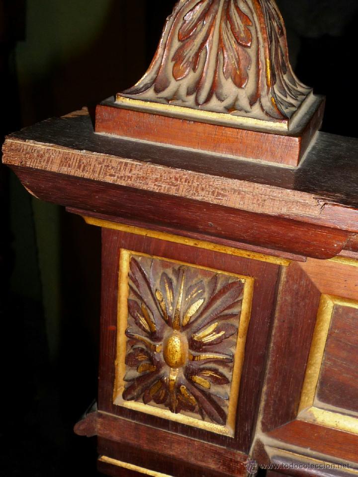 Antigüedades: Cama S. XIX, cabecero, piecero y largueros. - Foto 14 - 41302922