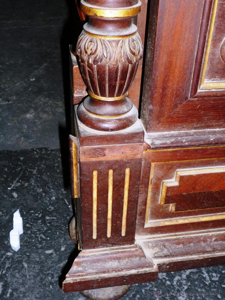 Antigüedades: Cama S. XIX, cabecero, piecero y largueros. - Foto 15 - 41302922