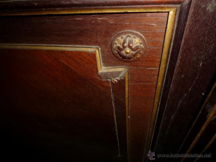 Antigüedades: Cama S. XIX, cabecero, piecero y largueros. - Foto 17 - 41302922