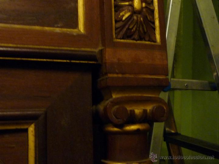 Antigüedades: Cama S. XIX, cabecero, piecero y largueros. - Foto 18 - 41302922