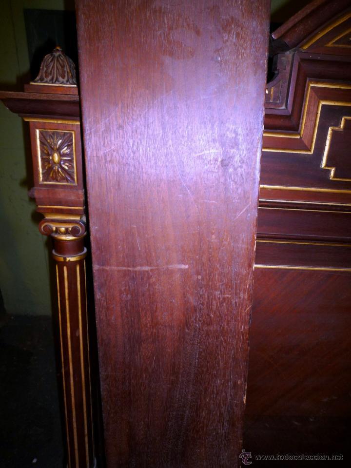Antigüedades: Cama S. XIX, cabecero, piecero y largueros. - Foto 20 - 41302922