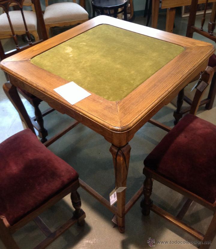 ANTIGUA MESA DE JUEGO (Antigüedades - Muebles Antiguos - Mesas Antiguas)