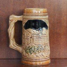 Antigüedades: JARRA DE CERVEZA DE CERAMICA O PORCELANA ALEMANIA ALTURA 17 CM. Lote 41304838