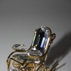 Antigüedades: MINIATURA DE SWAROWSKI, BALANCIN , EN SU ESTUCHE Y GARANTÍA ORIGINALES. Lote 41305409