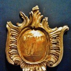 Antigüedades: COPETE BARROCO DE MADERA TALLADA Y DORADA, S. XVIII. PIEZA ESPECIAL PARA DECORAR. . Lote 41314757