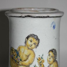 Antigüedades: ALBARELO EN CERÁMICA POLICROMADA A MANO - CÍRCULO ARAGALL - PRINC. S.XX. Lote 41334128