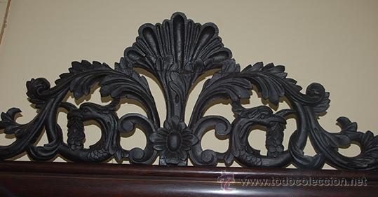 Antigüedades: Bonita Consola Isabelina - Finas Tallas en Madera de Jacarandá - Marquetería - S. XIX - Foto 3 - 41334976