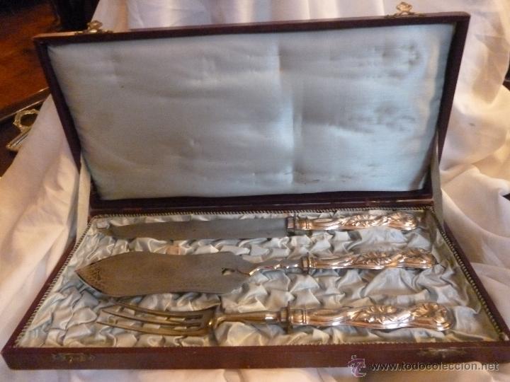 CUBIERTOS DE SERVICIO (Antigüedades - Platería - Bañado en Plata Antiguo)