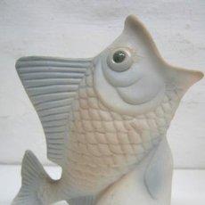 Antigüedades: JARRON DE CERAMICA PEZ CON LA BOCA ABIERTA. Lote 41341917