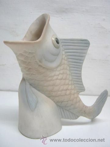 Antigüedades: Jarron de ceramica Pez con la boca abierta - Foto 2 - 41341917