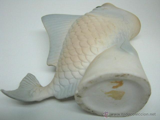Antigüedades: Jarron de ceramica Pez con la boca abierta - Foto 4 - 41341917