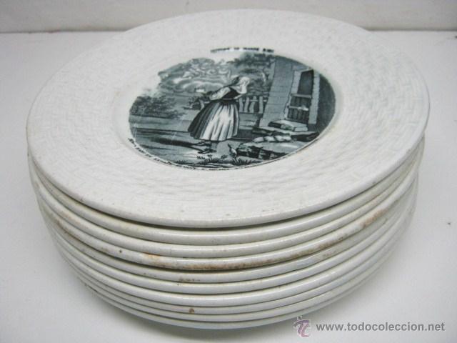 Coleccion 9 1 platos franceses siglo xix gien comprar for Platos franceses