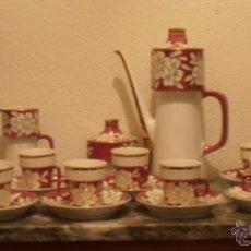 Antigüedades: JUEGO DE CAFE DE PORCELANA PALLARES, 15 PIEZAS. Lote 41345435