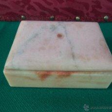 Antigüedades: CAJA HECHA DE MARMOL LABRADO. Lote 41385344