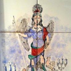 Antigüedades: CUADRO DE MOSAICOS DE SAN RAFAEL , PATRÓN DE CÓRDOBA.FIRMADO MADUEÑO.. Lote 41409418