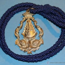 Antigüedades: MEDALLA MEDALLÓN RELIGIOSO. HERMANDAD VIRGEN DEL ROCÍO DE CÁDIZ. Lote 41410438